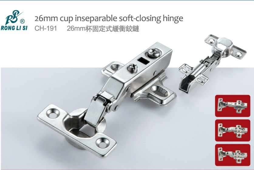 26mm cup inseparable soft-closing hinge