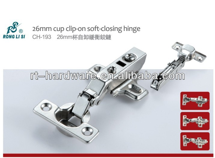 26mm cup clip-on soft-closing hinge