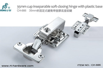 35mm cup soft-closing hinge with plastic base