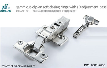 35mm cup clip-on hinge with 3D adjustment base