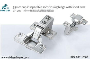35mm cup inseparable  hinge with short arm
