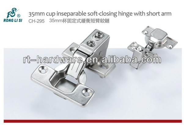 35mm cup soft-closing hinge with short arm